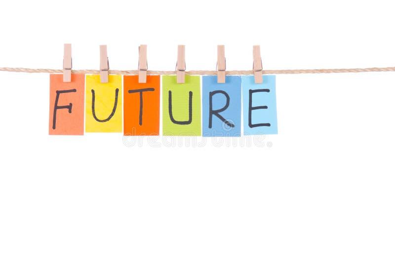 цветастые будущие слова веревочки hang стоковое изображение rf