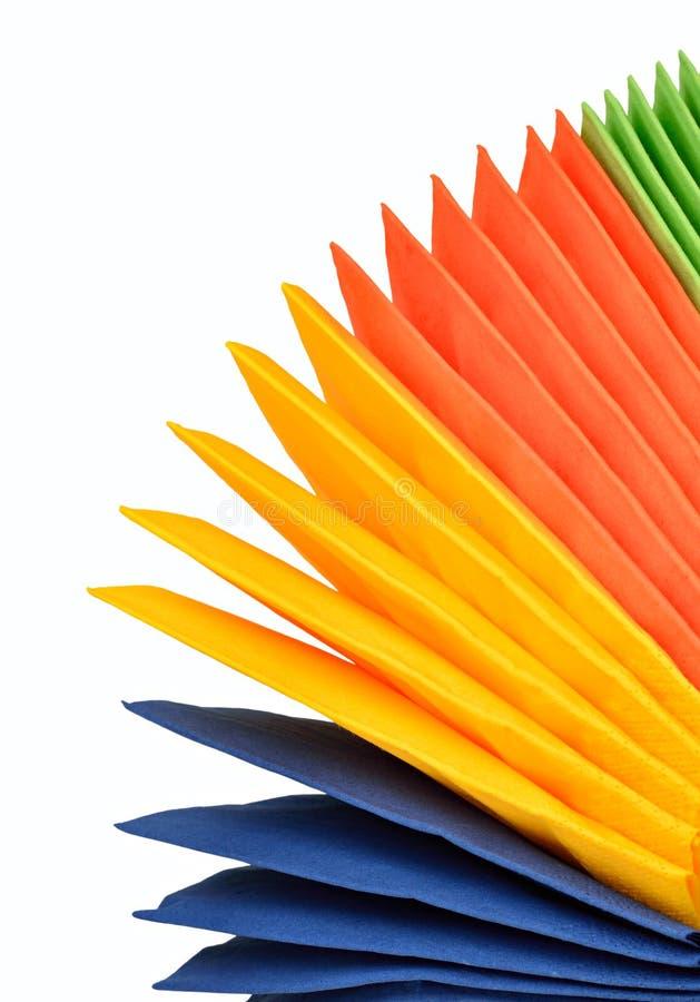 Цветастые бумажные салфетки стоковое фото rf