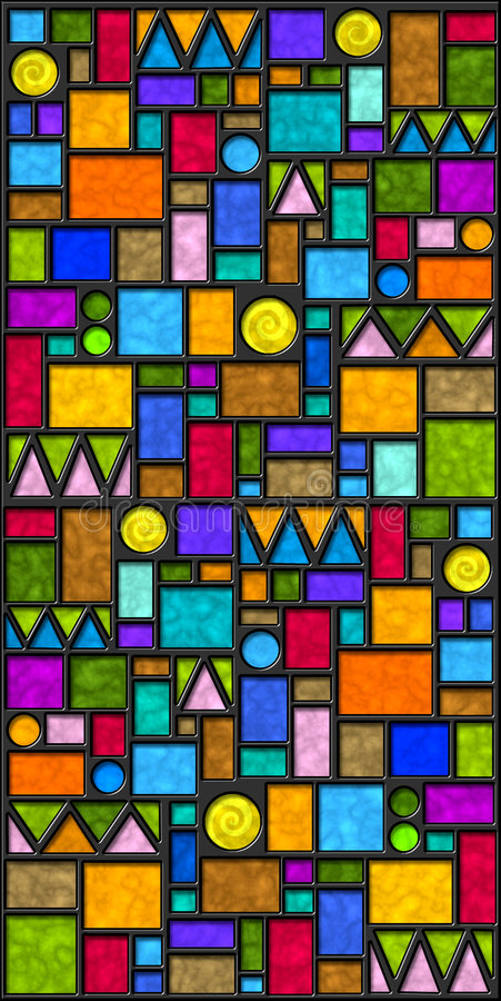 цветастые геометрические плитки иллюстрация вектора