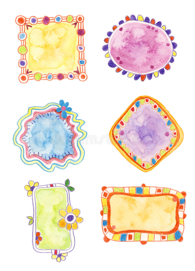 цветастые декоративные элементы иллюстрация штока