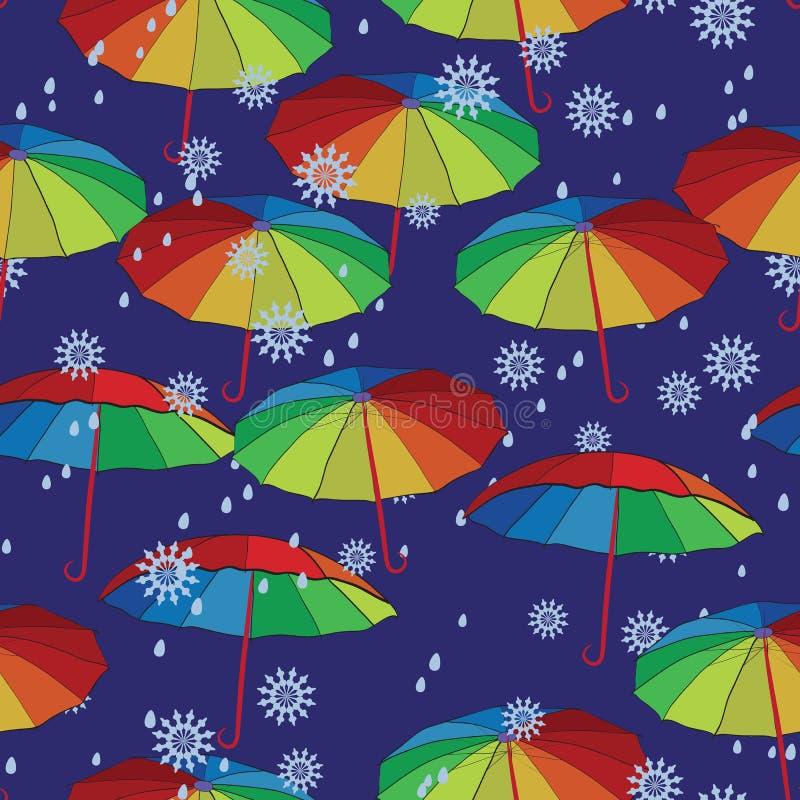 цветастые зонтики иллюстрация штока