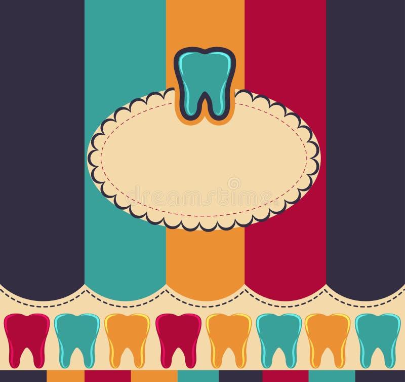 Цветастые зубы иллюстрация штока