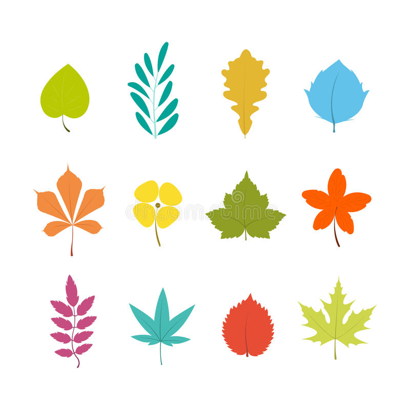 Цветастые листья бесплатная иллюстрация