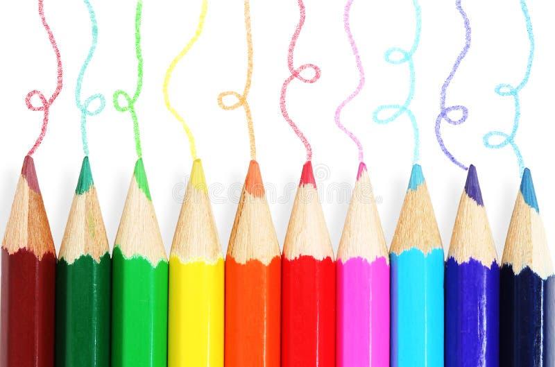 цветастые карандаши стоковая фотография rf