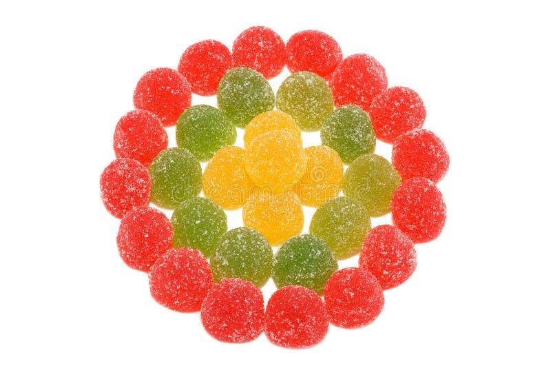 Цветастые конфеты студня изолированные на белой предпосылке стоковое фото rf