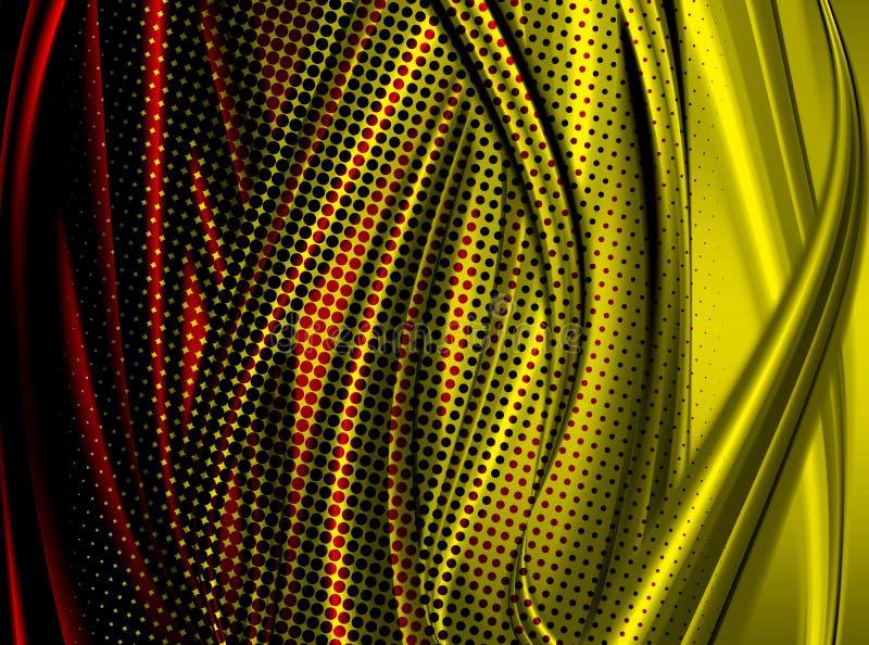 цветастые кривые иллюстрация вектора