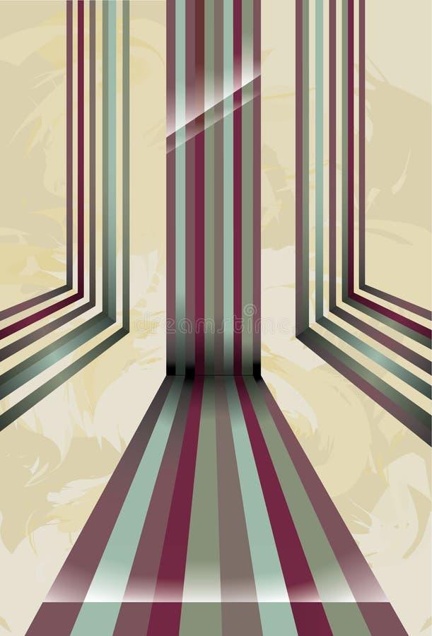 цветастые линии перспектива иллюстрация вектора
