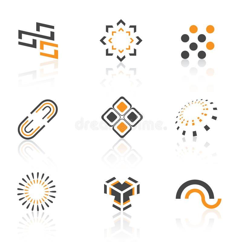 цветастые логосы иллюстрация штока