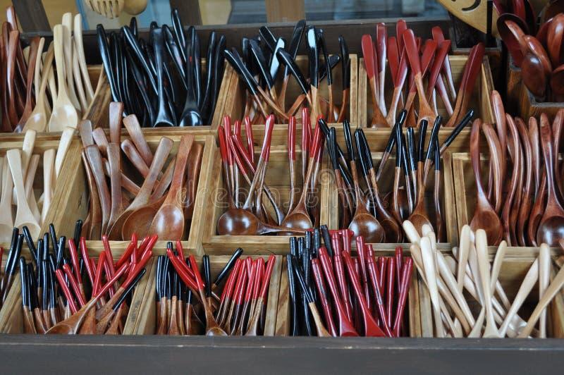 цветастые ложки стоковая фотография rf