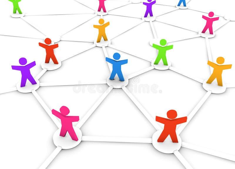 цветастые люди сети бесплатная иллюстрация