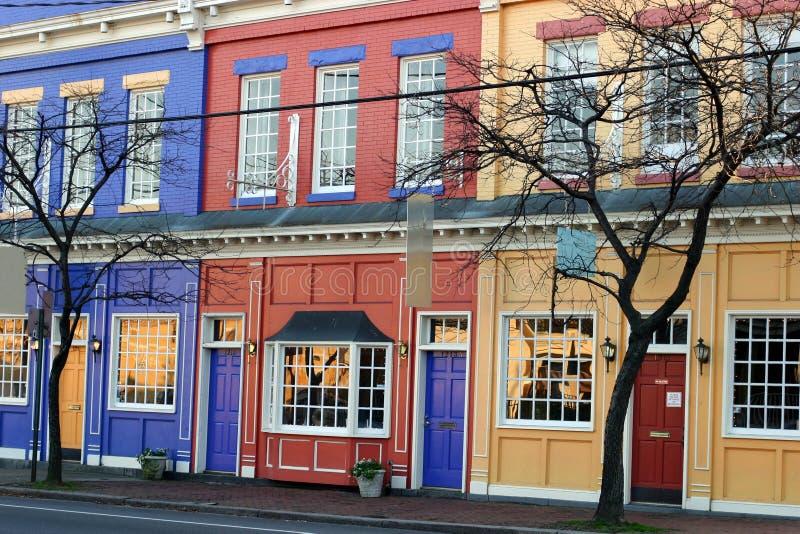 цветастые магазины Стоковое Фото