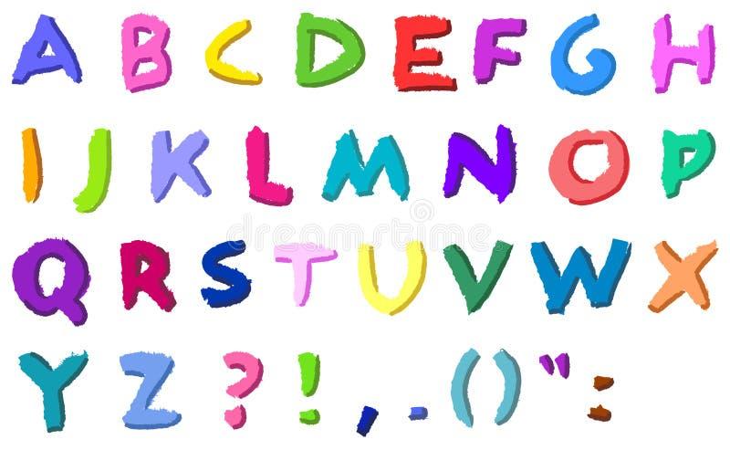 цветастые нарисованные письма руки бесплатная иллюстрация