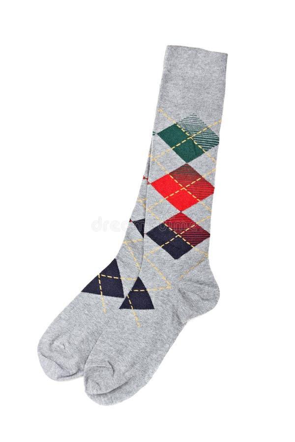 цветастые носки пар стоковые изображения rf