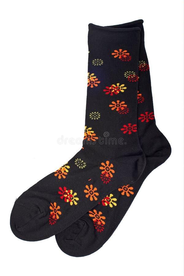 цветастые носки пар стоковая фотография rf