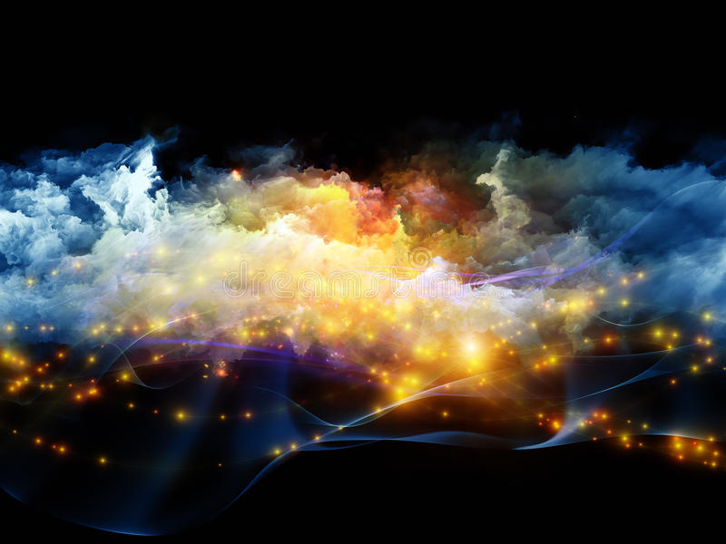 Цветастые облака фрактали стоковое изображение rf