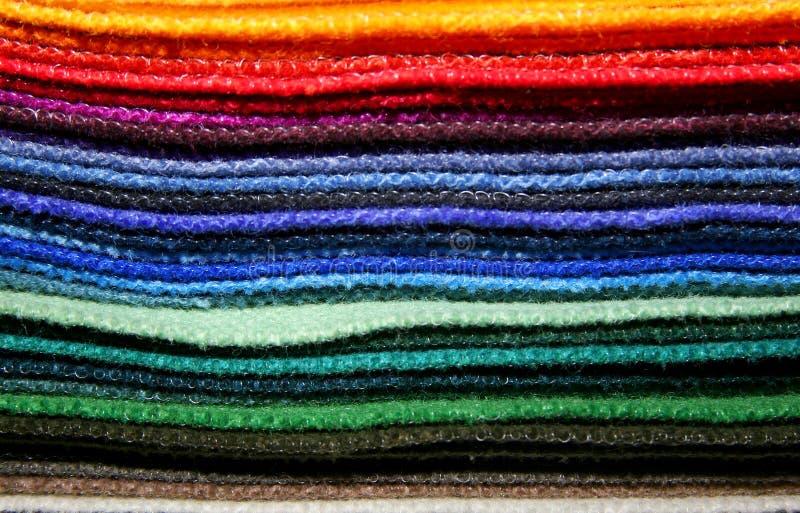 цветастые образцы ткани стоковое изображение