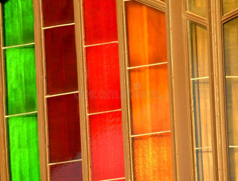 цветастые окна стоковая фотография