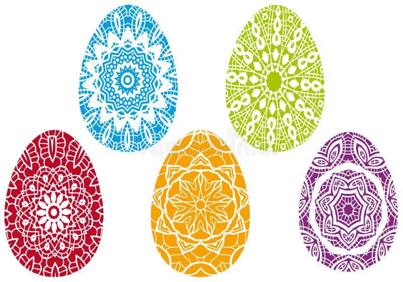 цветастые пасхальные яйца иллюстрация штока