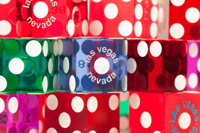 цветастые плашки Las Vegas стоковые фото