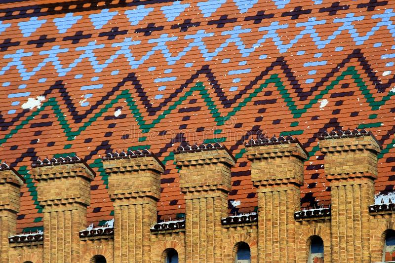 Цветастые плитки крыши стоковая фотография rf