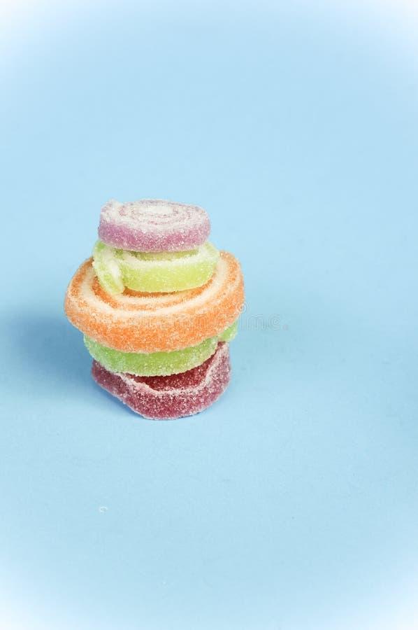 цветастые помадки затира плодоовощ стоковое изображение