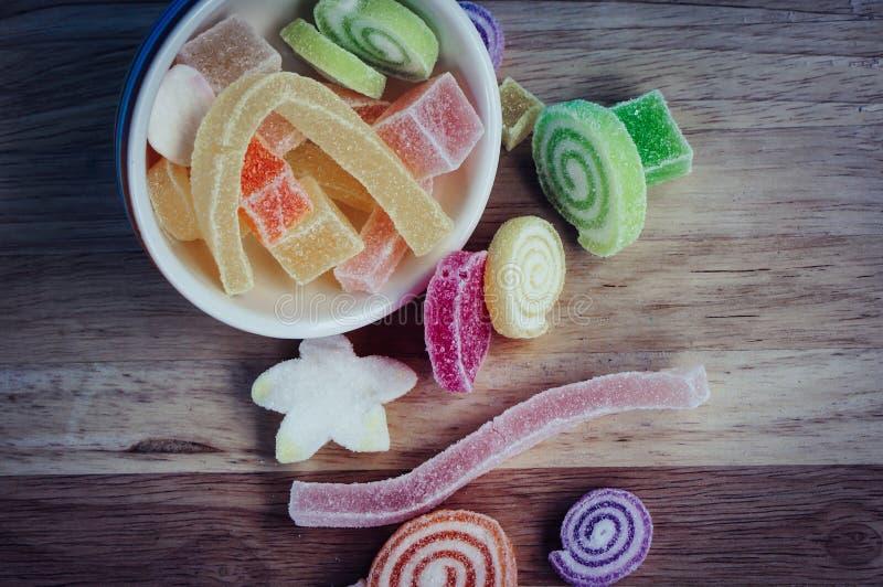 цветастые помадки затира плодоовощ стоковые фото