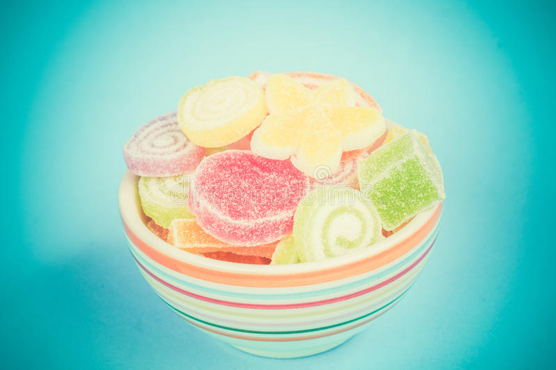 цветастые помадки затира плодоовощ стоковые изображения rf