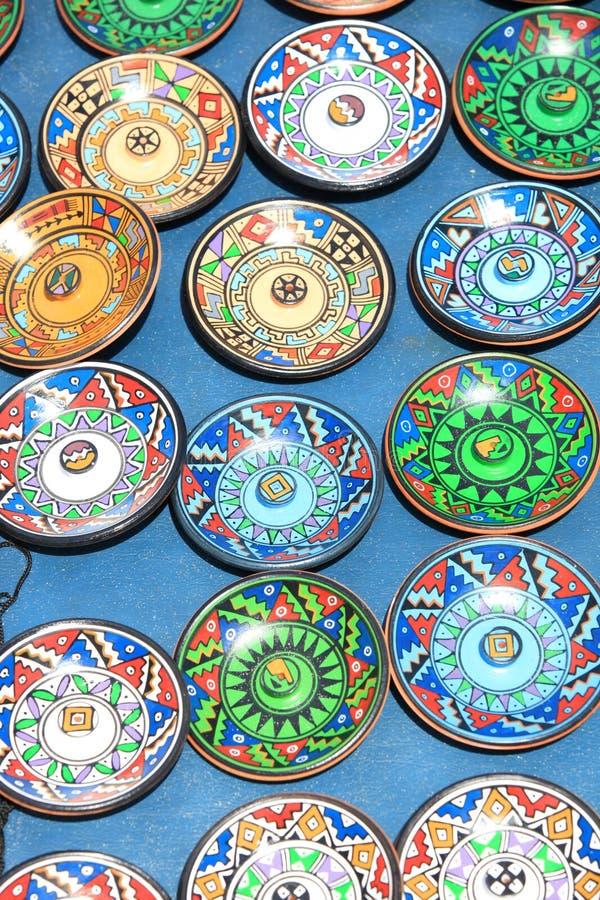 цветастые плиты стоковая фотография
