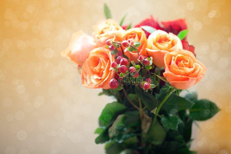 Цветастые розы с bokeh стоковые фото