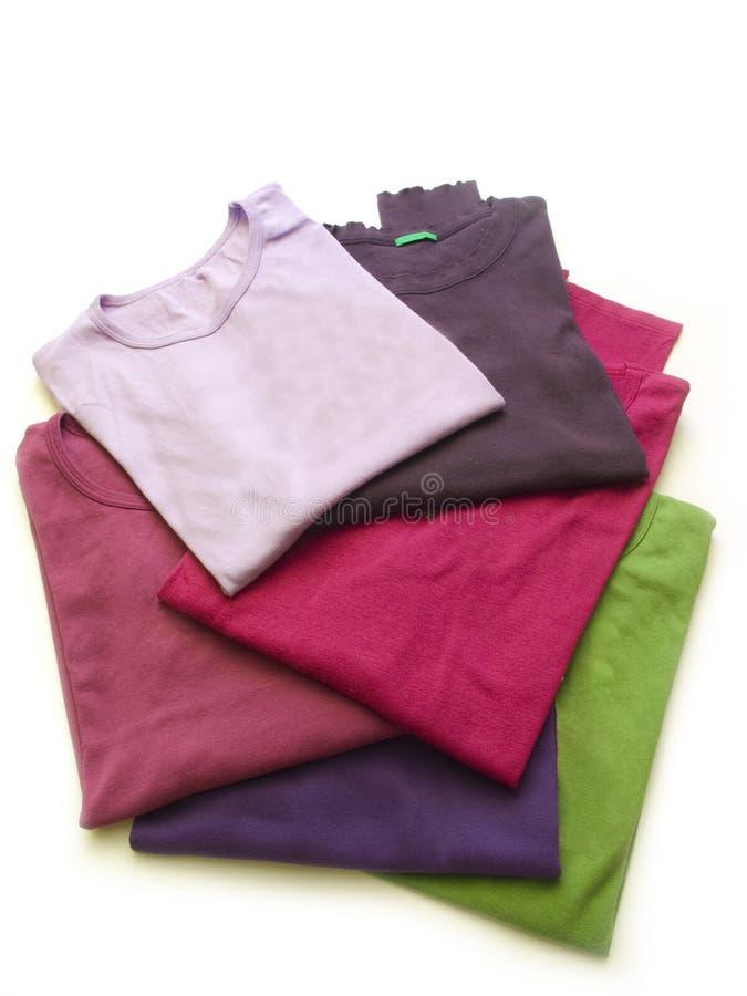 цветастые рубашки t стоковое изображение
