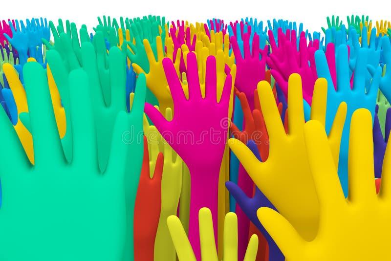 цветастые руки бесплатная иллюстрация