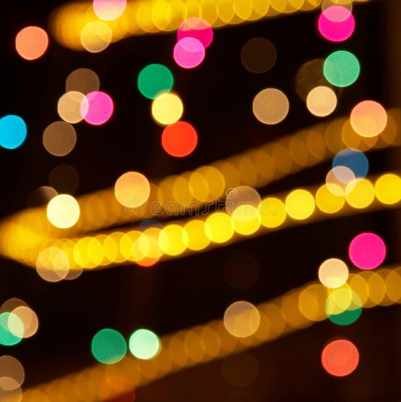цветастые света праздника стоковые фотографии rf
