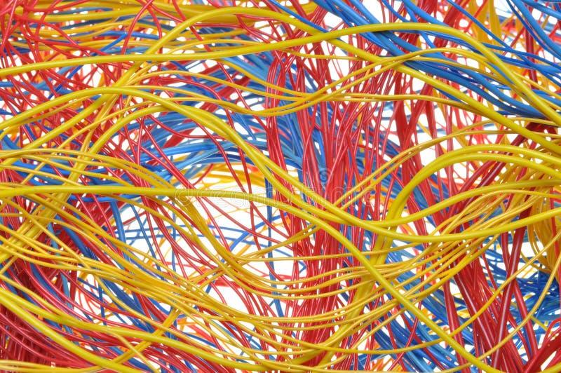 Цветастые связки проводов стоковая фотография rf