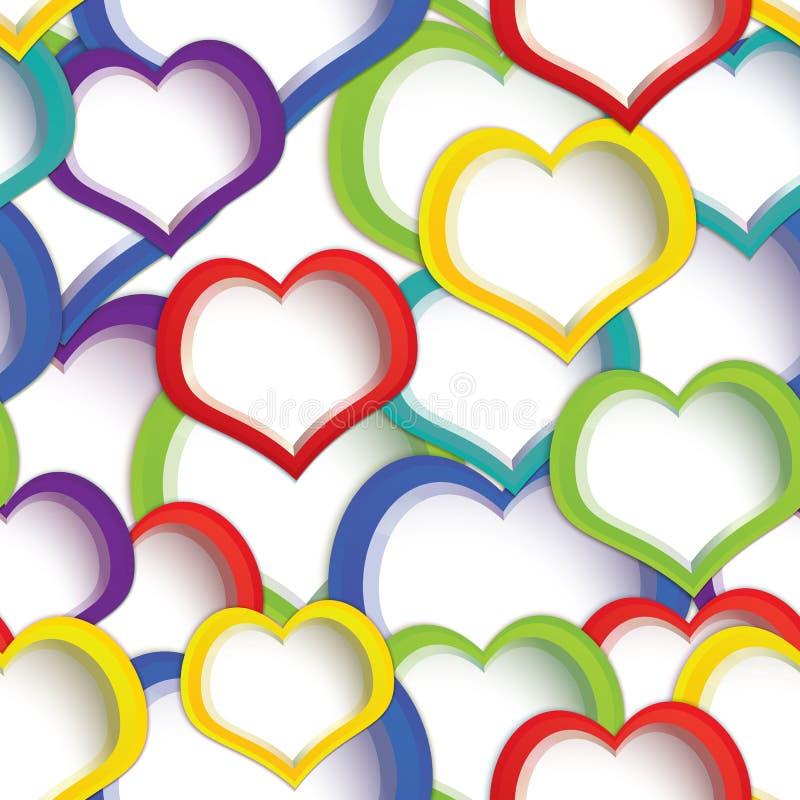 Цветастые сердца безшовные иллюстрация вектора