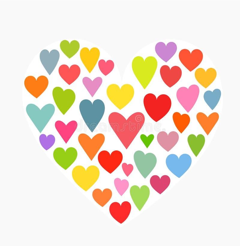 Цветастые сердца бесплатная иллюстрация