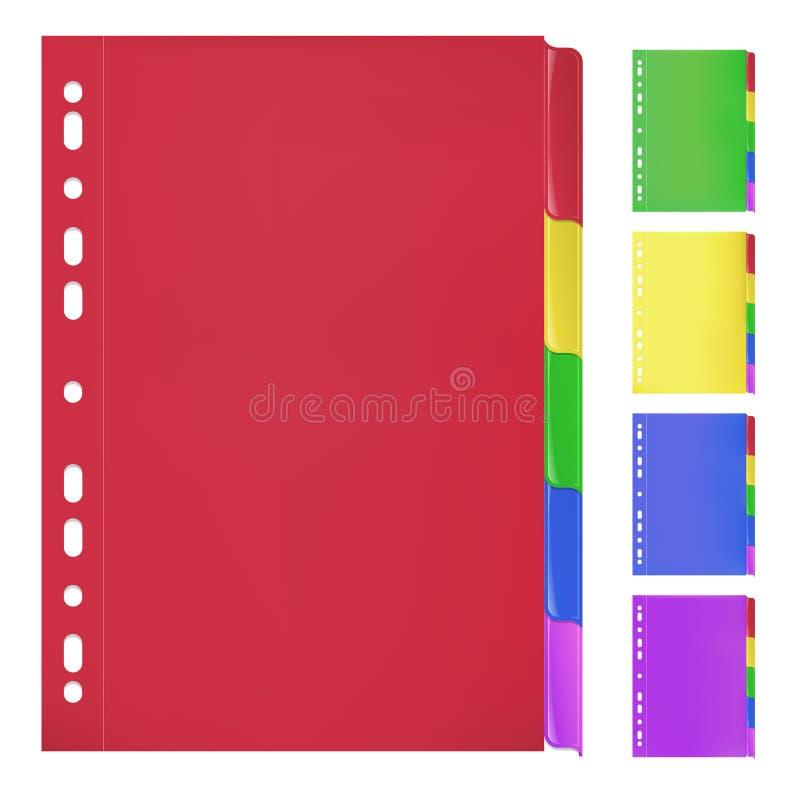 Цветастые скоросшиватели с Bookmarks бесплатная иллюстрация