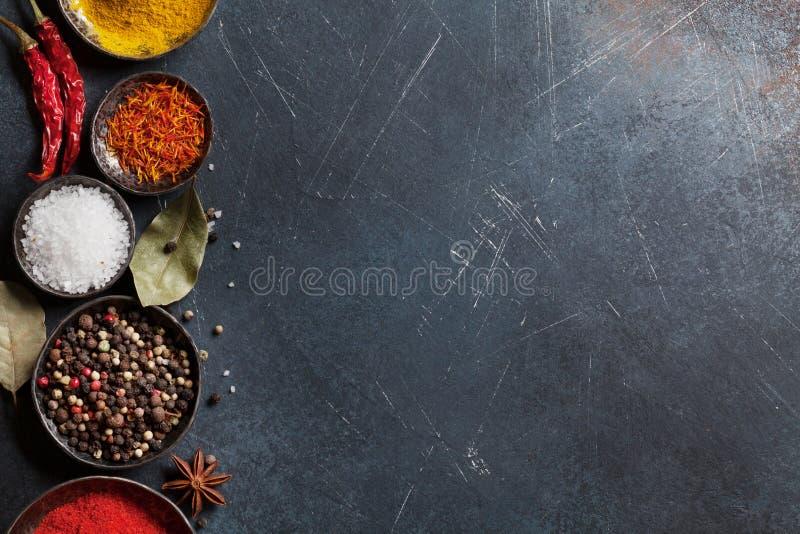 цветастые специи стоковые изображения rf