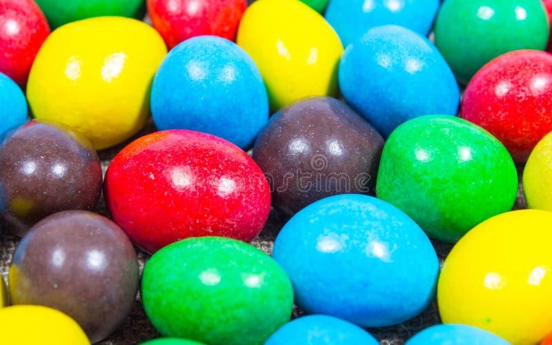 Цветастые сладостные конфеты стоковая фотография rf