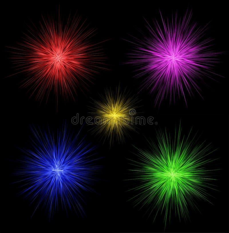 цветастые феиэрверки конструкции иллюстрация штока