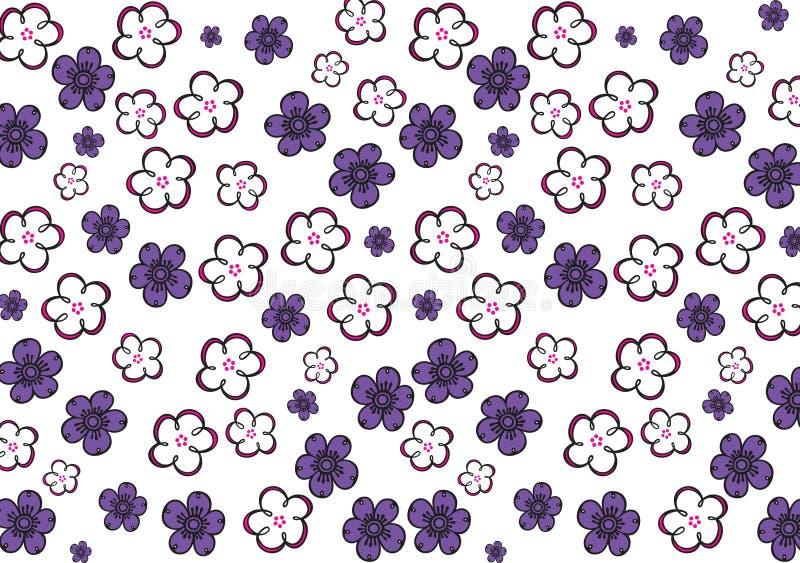 цветастые цветки иллюстрация вектора