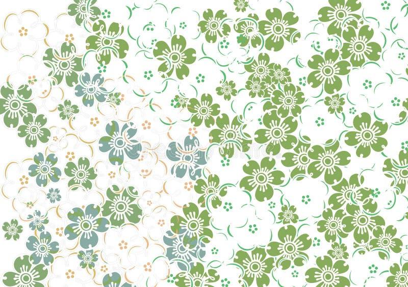 цветастые цветки иллюстрация штока