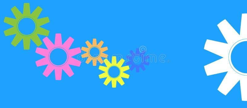 цветастые шестерни иллюстрация штока