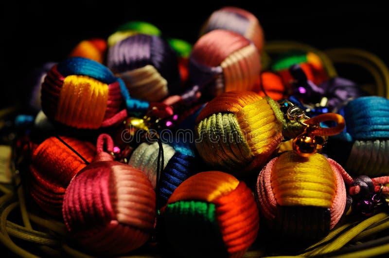 Цветастые шнур-сделанные шарики стоковое изображение