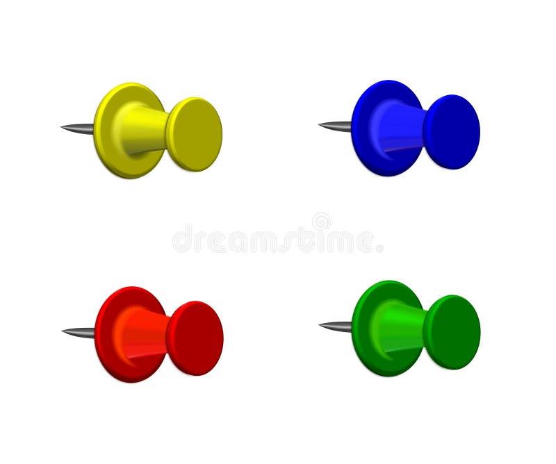 цветастые штыри карты иллюстрация вектора