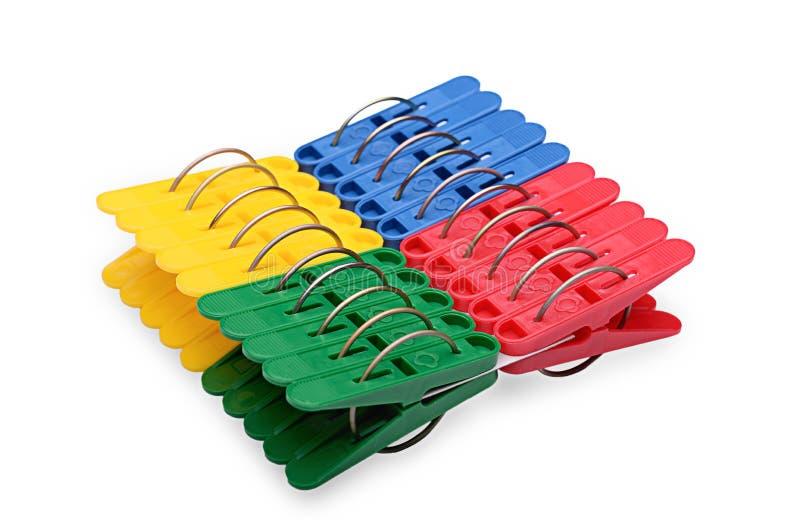 Цветастые clothespins стоковые фото