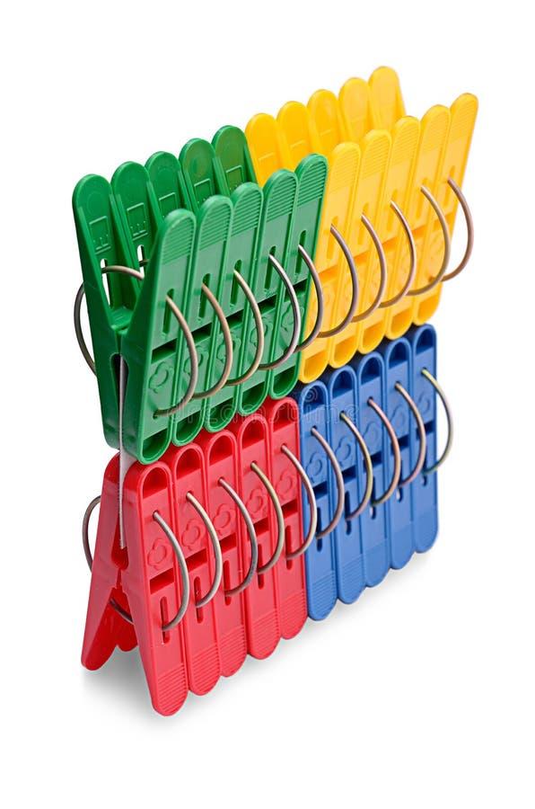 Цветастые clothespins стоковые изображения rf
