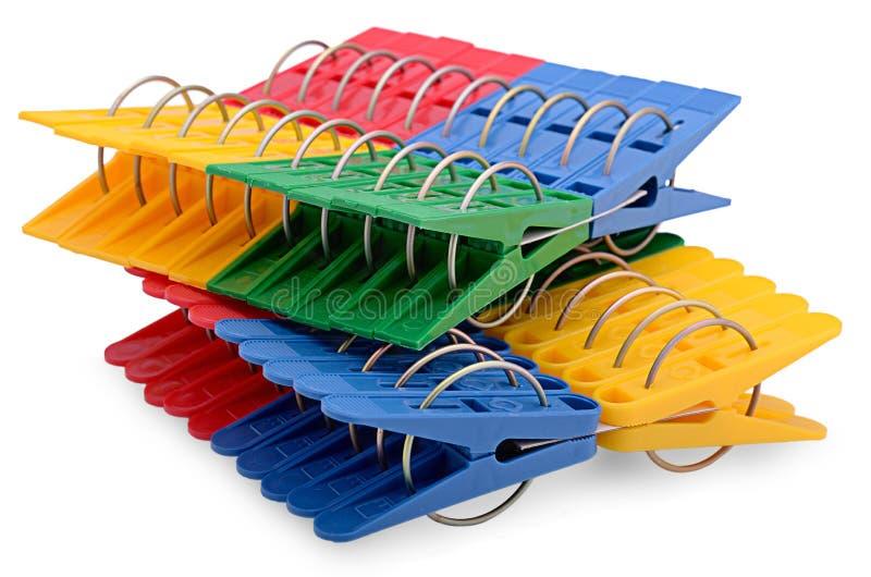 Цветастые clothespins стоковая фотография