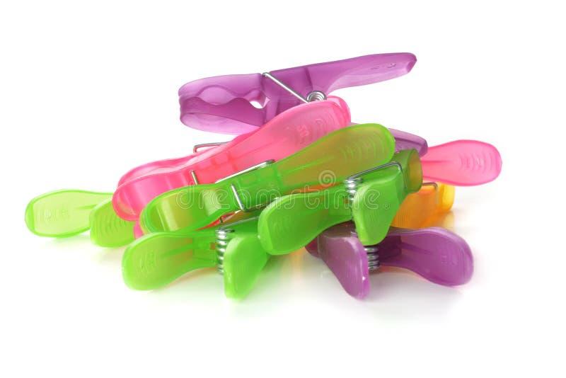 Цветастые clothespins стоковое изображение rf