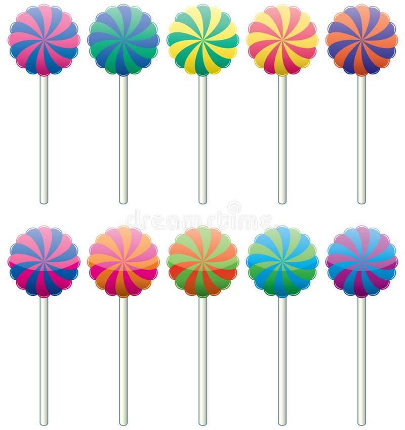 цветастые lollipops иллюстрация штока