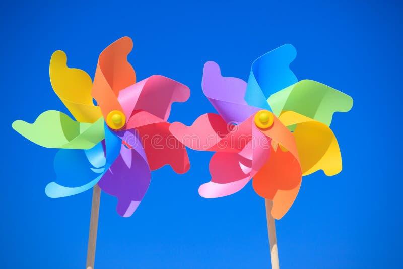 цветастые pinwheels стоковая фотография rf